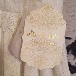 Altar'd State Dresses - New w/Tags Alter'd State Eyelet w/trim White Dress